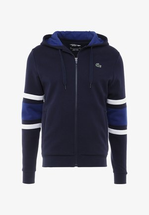 veste en sweat zippée - navy blue/ocean white/ocean