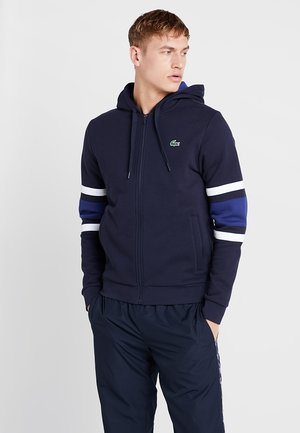 Zip-up hoodie - navy blue/ocean white/ocean