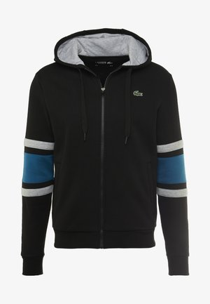 veste en sweat zippée - black/illumination/silver chine