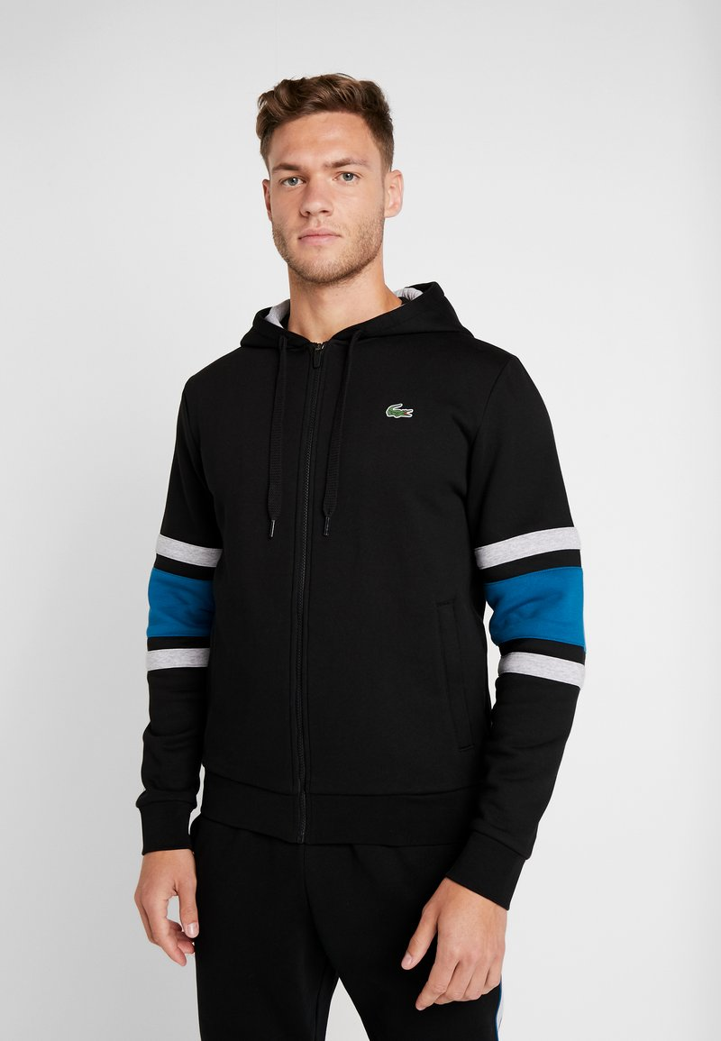 Lacoste Sport - Zip-up hoodie - black/illumination/silver chine