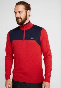 Lacoste Sport - WITH ZIP - Svetr - tokyo red/navy blue - 0
