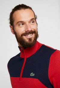 Lacoste Sport - WITH ZIP - Pullover - tokyo red/navy blue - 4