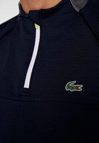 Lacoste Sport - WITH ZIP - Top sdlouhým rukávem - navy blue/white - 7