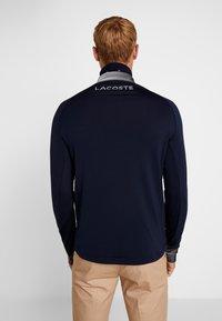 Lacoste Sport - WITH ZIP - Top sdlouhým rukávem - navy blue/white - 2
