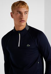 Lacoste Sport - WITH ZIP - Top sdlouhým rukávem - navy blue/white - 3