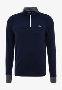 Lacoste Sport - WITH ZIP - Top sdlouhým rukávem - navy blue/white - 6