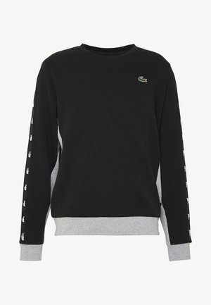 TAPERED - Sweater - black/silver chine