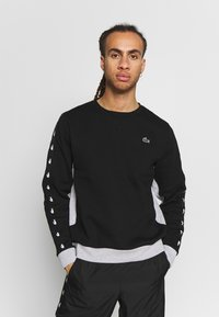 Lacoste Sport - TAPERED - Sweatshirt - black/silver chine - 0