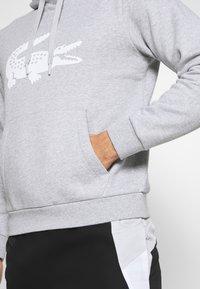 Lacoste Sport - LOGO - Bluza z kapturem - silver chine black-white - 4