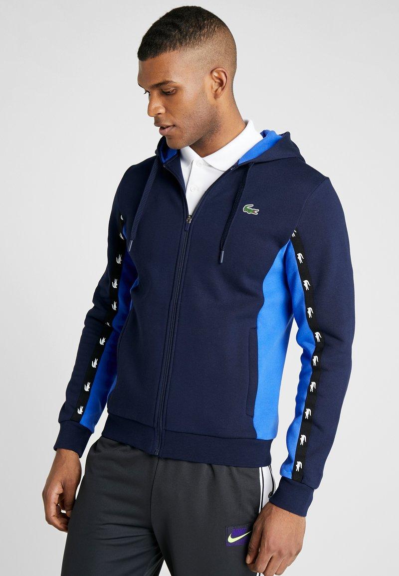 Lacoste Sport - Huvtröja med dragkedja - navy blue/obscurity navy blue