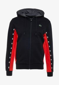 Lacoste Sport - veste en sweat zippée - black/corrida/pitch chine - 5