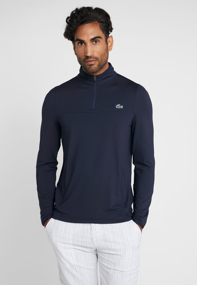 QUARTER ZIP - Sports shirt - navy blue