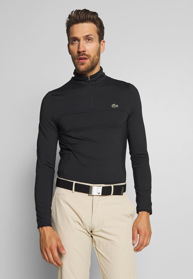 QUARTER ZIP - Sports shirt - black