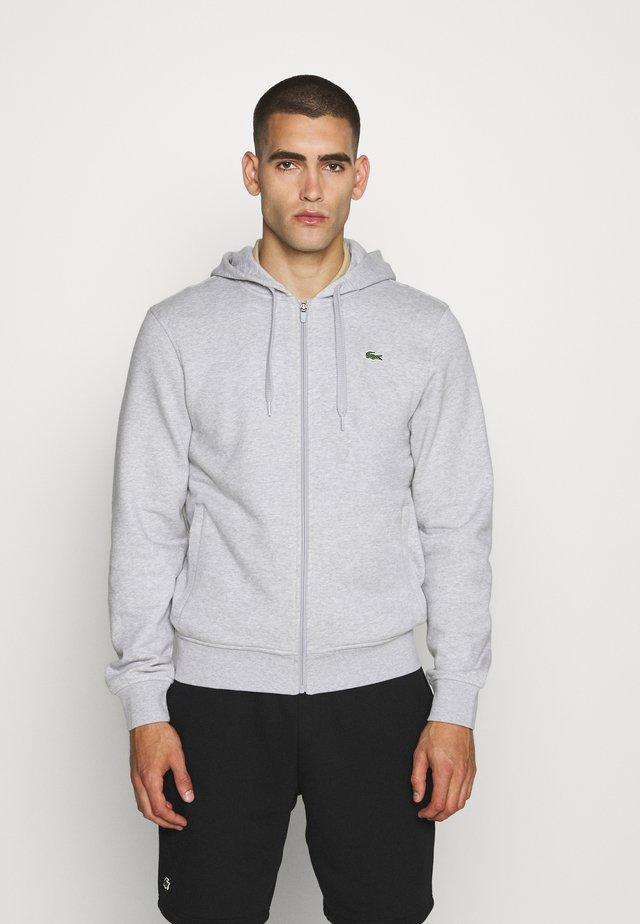 CLASSIC HOODIE JACKET - Zip-up hoodie - silver chine/elephant grey
