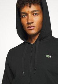 Lacoste Sport - CLASSIC HOODIE JACKET - Zip-up hoodie - black - 5