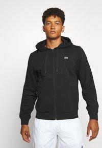 Lacoste Sport - CLASSIC HOODIE JACKET - Zip-up hoodie - black - 0