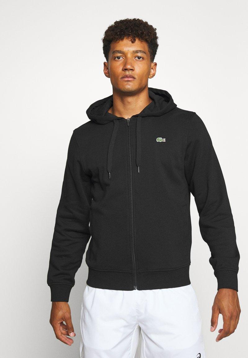 Lacoste Sport - CLASSIC HOODIE JACKET - Zip-up hoodie - black