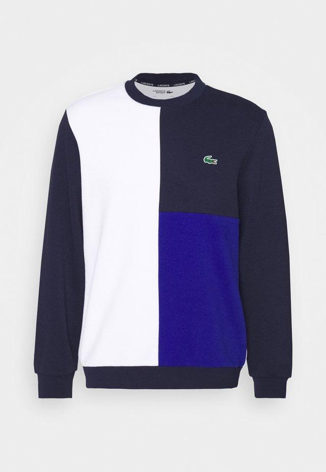 BLOCK - Sweater - white/navy blue/cosmic