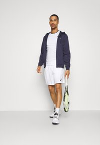 Lacoste Sport - TECH HOODIE - Zip-up hoodie - touareg chine/navy blue - 1