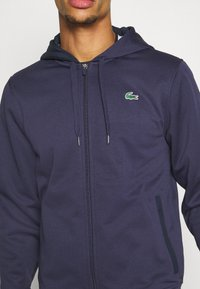 Lacoste Sport - TECH HOODIE - Zip-up hoodie - touareg chine/navy blue - 5