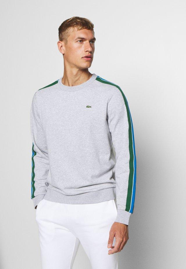 RAINBOW TAPING - Sweatshirt - silver chine/navy blue/utramarine/green/white