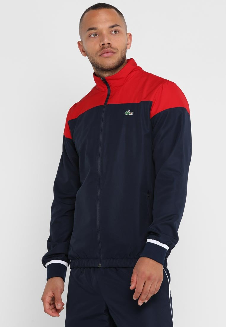 Lacoste Sport - TRACKSUIT - Survêtement - red/navy blue/white