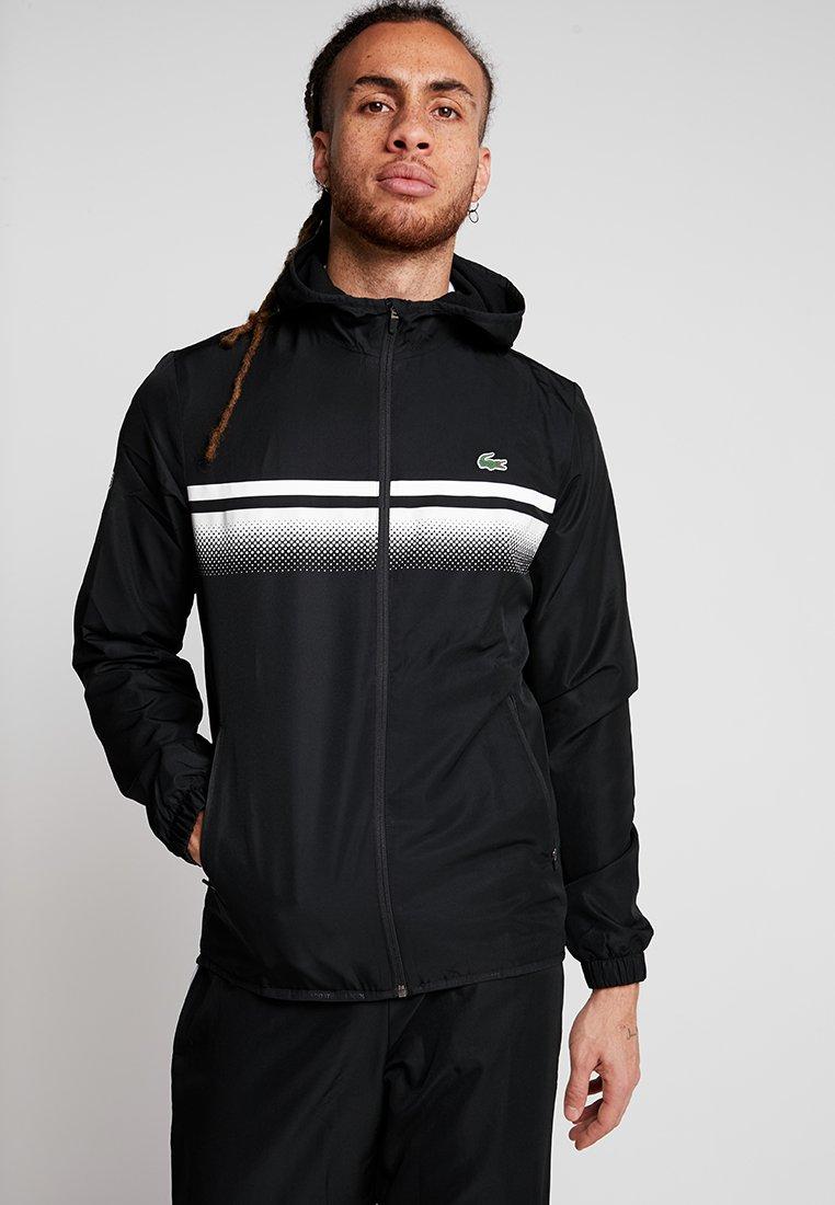 Lacoste Sport - TRACKSUIT - Survêtement - black/white