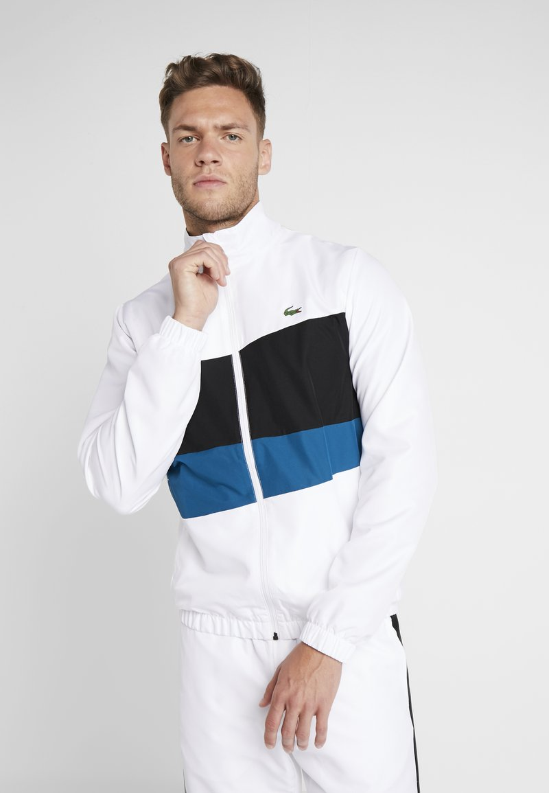 Lacoste Sport - TRACKSUIT - Survêtement - white/black/illumination