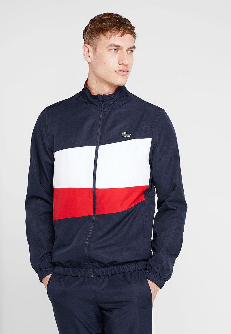 Lacoste Sport - TRACKSUIT - Träningsset - navy blue/white/red