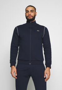 Lacoste Sport - TRACKSUIT - Tracksuit - navy blue/white - 0