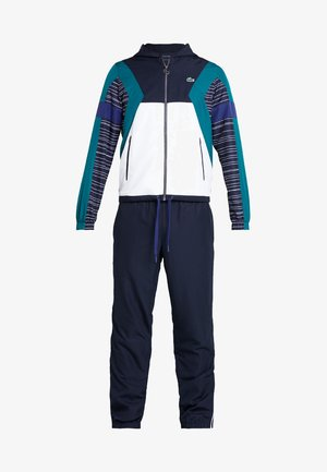 TRACKSUIT - Tracksuit - navy blue/white/ivy/ocean