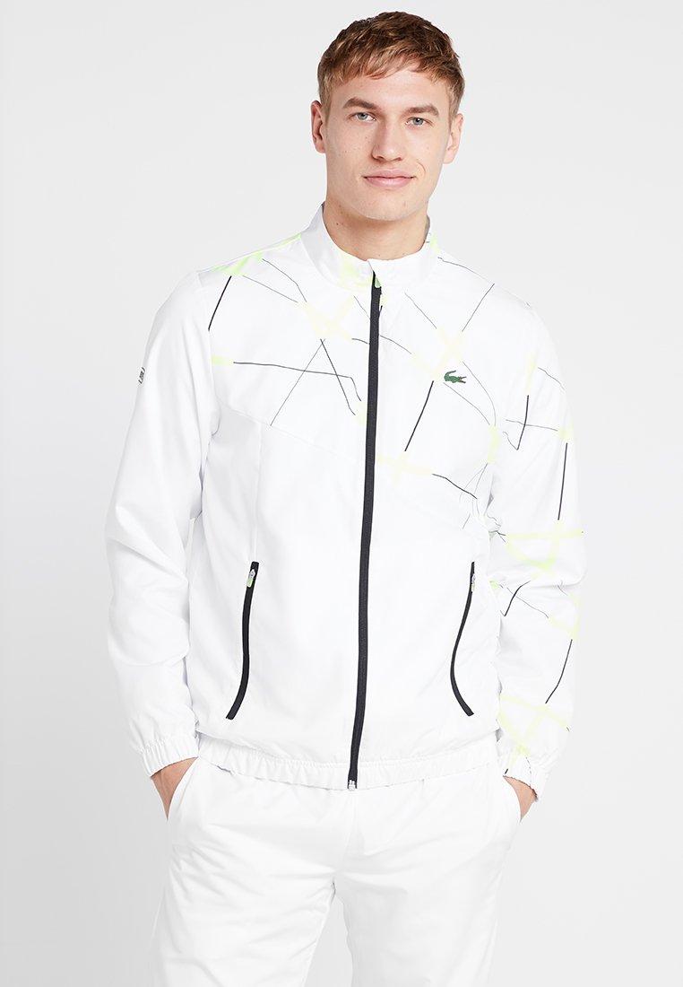 Lacoste Sport - TRACKSUIT - Trainingsanzug - white/black
