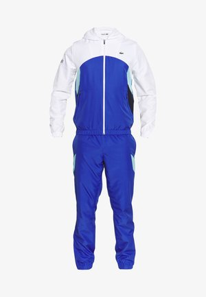 TRACKSUIT HOODED SET - Träningsset - white/obscurity/navy blue/haiti blue