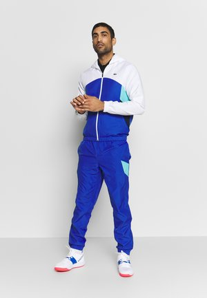 TRACKSUIT HOODED SET - Dres - white/obscurity/navy blue/haiti blue