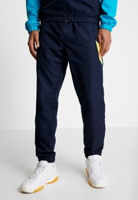 Lacoste Sport - TRACKSUIT HOODED SET - Träningsset - navy blue/haiti blue/lemon/white - 3