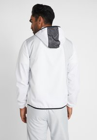 Lacoste Sport - TRACKSUIT HOODED - Träningsset - white/black - 3