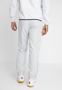 Lacoste Sport - TRACKSUIT HOODED - Träningsset - white/black - 4