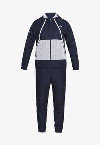 Lacoste Sport - TRACKSUIT HOODED - Survêtement - navy blue/white - 8