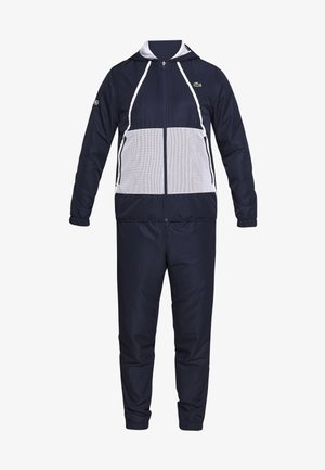 TRACKSUIT HOODED - Träningsset - navy blue/white