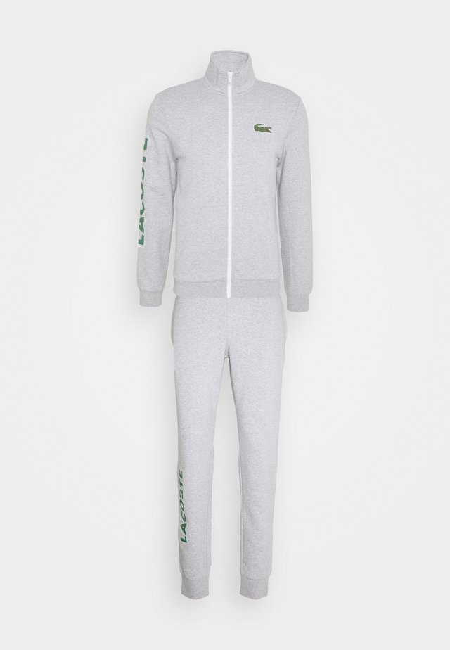 TRACKSUIT - Tracksuit - silver chine/green/white