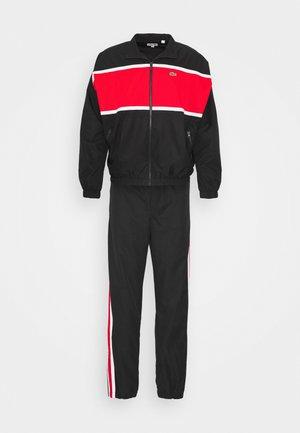 OVERSIZED TRACKSUIT - Trainingsanzug - black/red/white