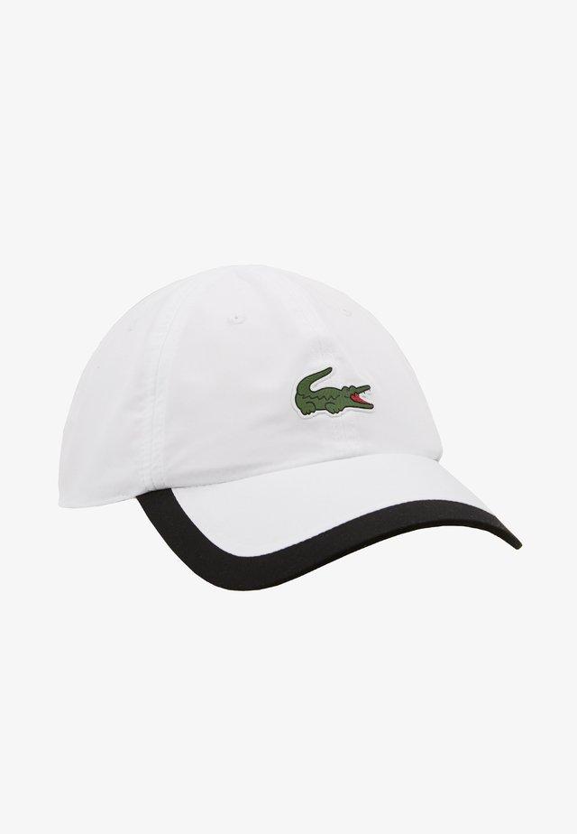 TENNIS CAP - Czapka z daszkiem - white/black