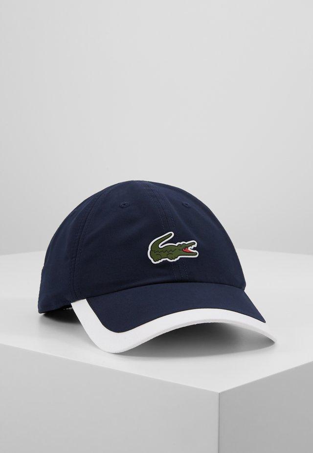 TENNIS CAP - Czapka z daszkiem - navy blue/white