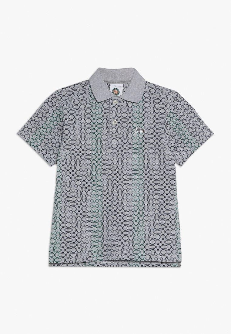 Lacoste Sport - TENNIS ROLAND GARROS - Polo shirt - silver chine/navy blue/woodland green