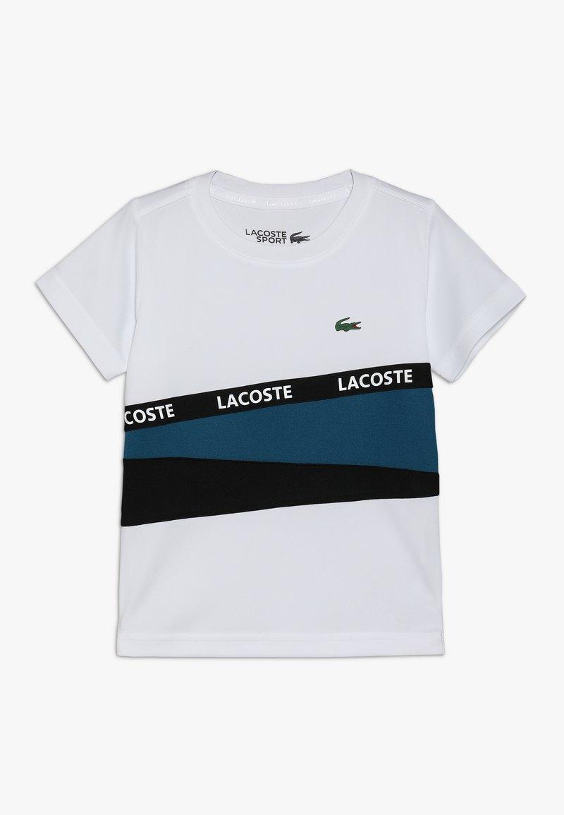 Lacoste Sport - TENNIS  - T-shirt med print - white/illumination black