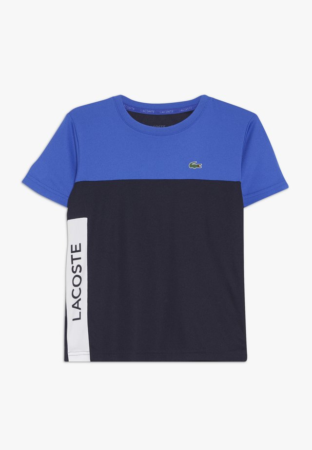 TENNIS  - T-shirt print - obscurity/navy blue white