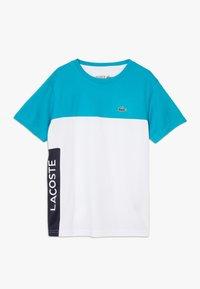 Lacoste Sport - TENNIS  - T-shirt imprimé - cuba/white/navy blue - 0