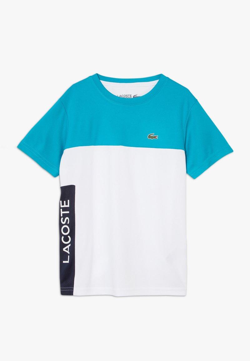 Lacoste Sport - TENNIS  - T-shirt imprimé - cuba/white/navy blue