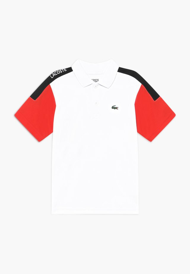 TENNIS - Sports shirt - white/corrida/black