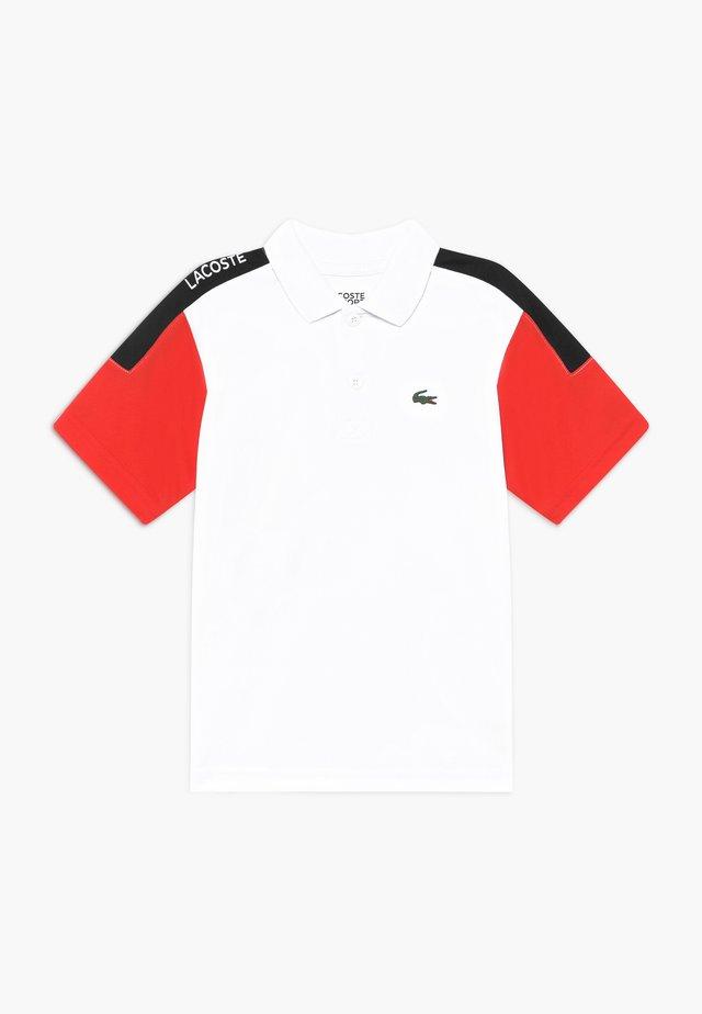TENNIS - Sportshirt - white/corrida/black